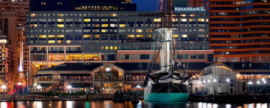 Picture of the Renaissance Baltimore Hotel and the harbor